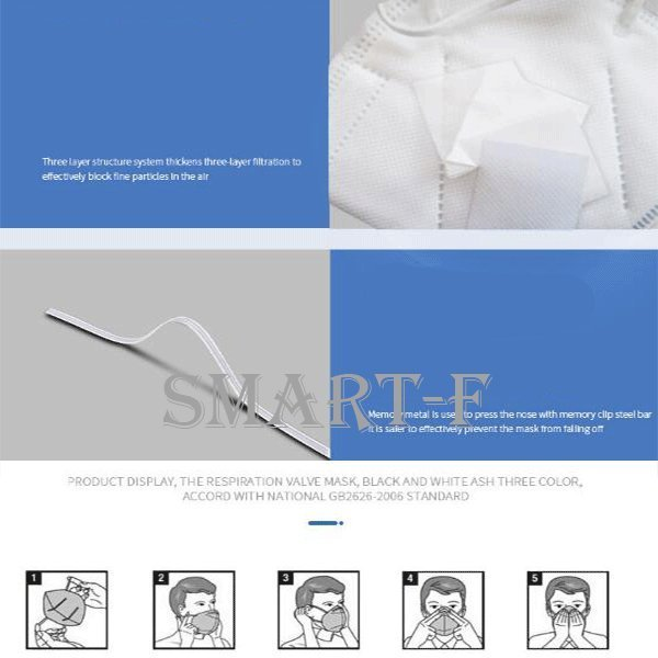 KN95マスク (N95同規格)5枚*2 3D 5層構造 不織布マスク【ウイルス/コロナ/対策】高性能マスク 男女兼用 成人サイズ 漏れない 三回|aimeeshop|09