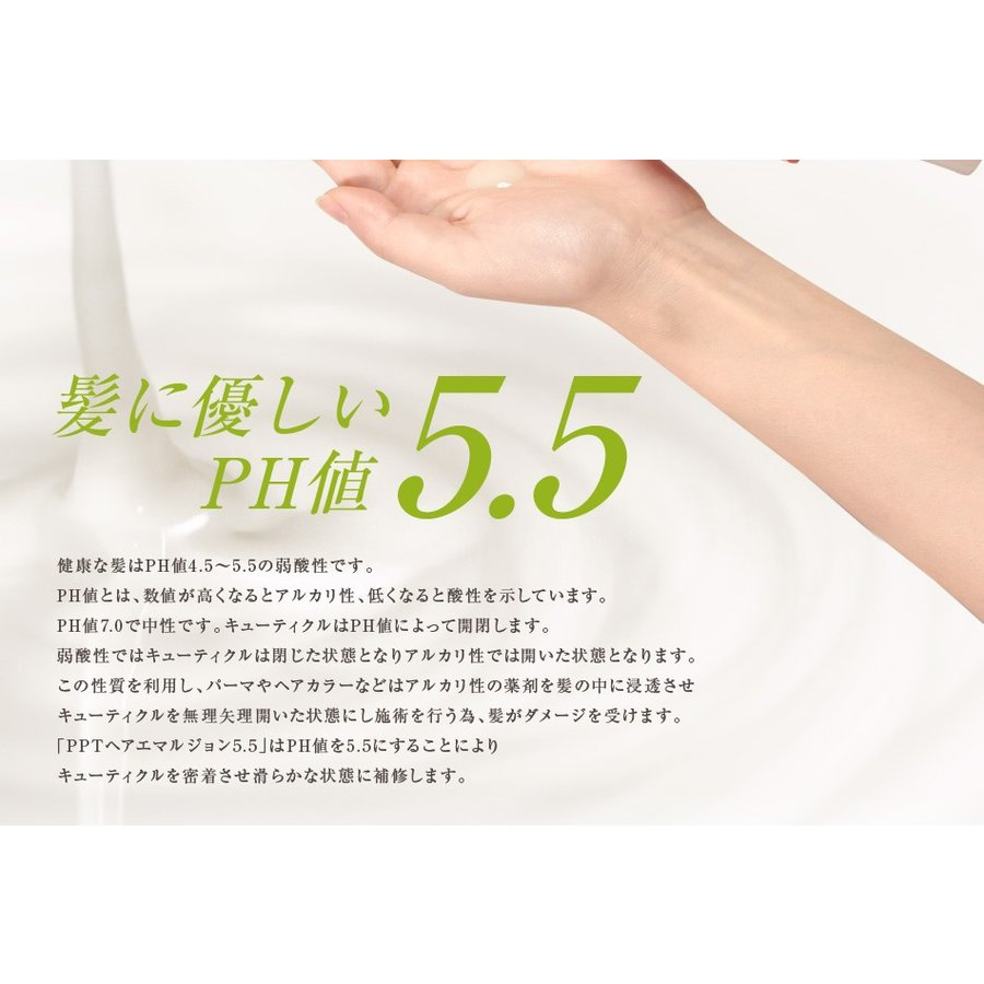 送料無料 3本セット 洗い流さない美容乳液 アイナボーテPPTヘアエマルジョン5.5 (ノンシリコン ヘマチン ペリセア リピジュア配合)|ainastyle|08