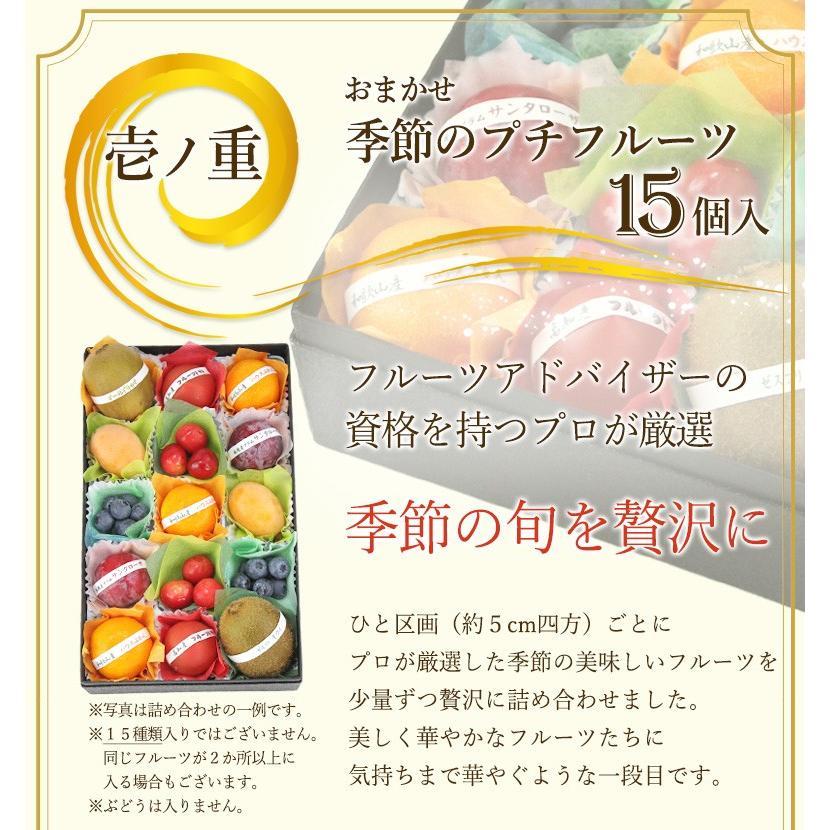 【プチ重箱プレミアム】 FPJ-1(プチフルーツ15個・プチぶどう3〜4種・15個)フルーツ くだもの 果物|aino-kajitu|03