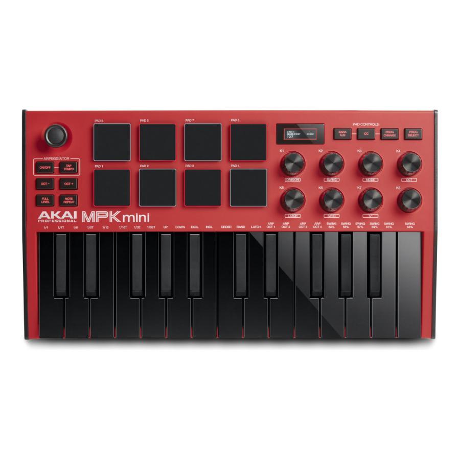 AKAI Professional MPK 超特価 mini MK3 期間限定 パッドコントローラー Red コンパクト キーボード