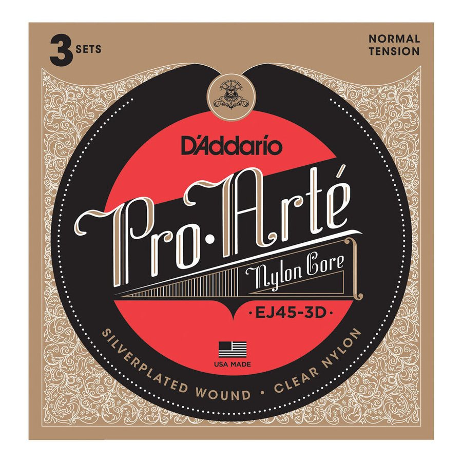 D#039;Addario EJ45-3D×1 3セット クラシックギター弦 代金引換不可 Normal 人気ブランド 訳あり商品 メール便発送