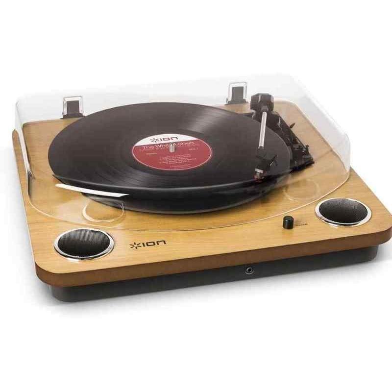 選択 ION お求めやすく価格改定 AUDIO MAX スピーカー搭載USBレコードプレーヤーターンテーブル LP