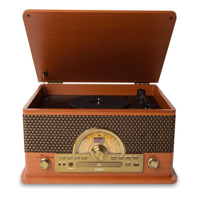 ION AUDIO [再販ご予約限定送料無料] おしゃれ Superior LP Bluetooth搭載レコード カセット CD他プレーヤーターンテーブル