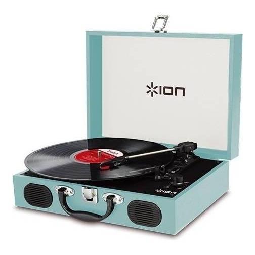 ION AUDIO VINYL TRANSPORT Blue ポータブル レコードプレーヤー 人気海外一番 トランク型 美品