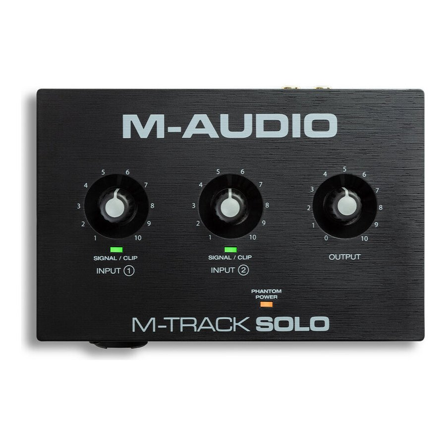 M-Audio M-Track Solo コンボ入力 ファンタム電源搭載 USBオーディオインターフェース 2チャンネル 限定モデル メーカー公式 48-KHz