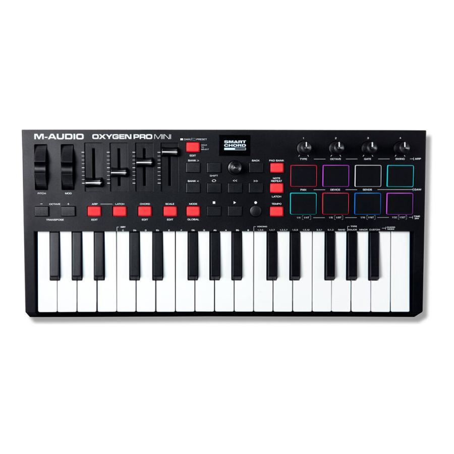 M-Audio Oxygen Pro Mini Seasonal Wrap入荷 32鍵 USB MIDI キーボード コントローラー 一部予約