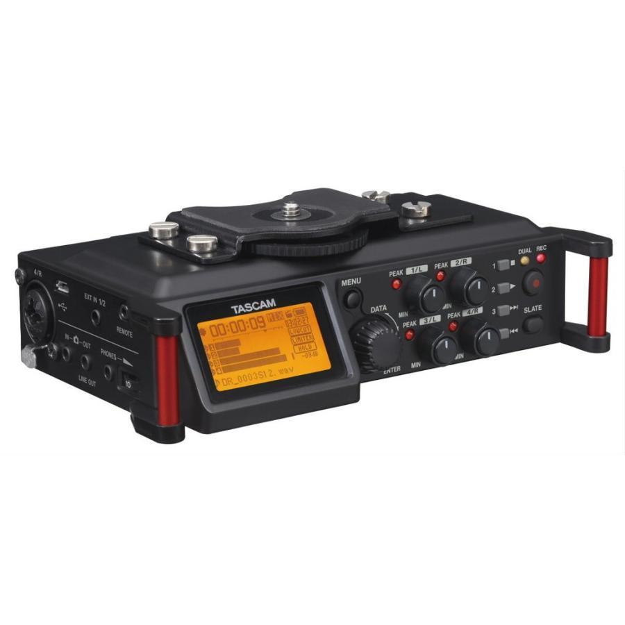 正規取扱店 TASCAM 25%OFF DR-70D 4トラック カメラ用リニアPCMレコーダー ミキサー
