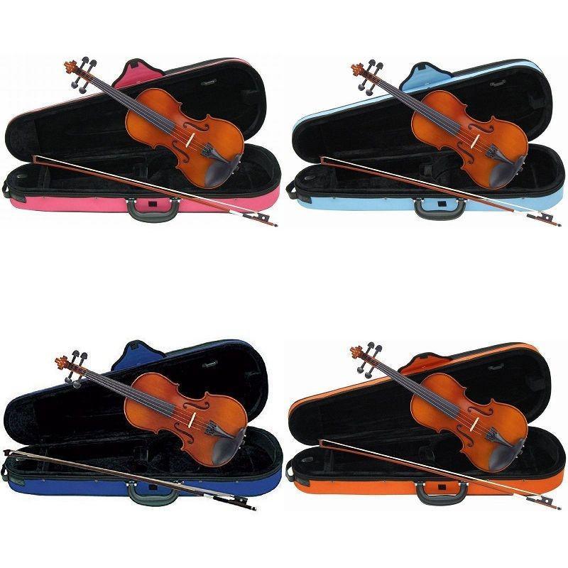 バーゲンセール Carlo giordano VS-1C バイオリンセット サイズ:4 4 ●日本正規品● 3 1 オレンジ 8 10 水色 青 ケース:ピンク 2 16
