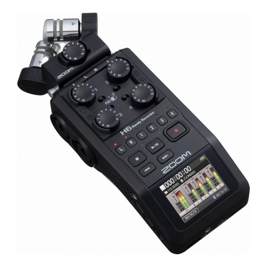 ZOOM H6 BLK 倉庫 マイク交換ハンディレコーダー ブラック エディション 2020