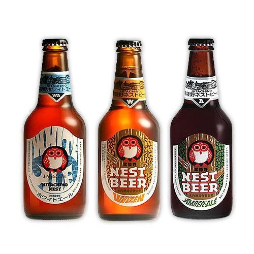 ビール ギフト 常陸野ネストビール 330ml 3本 詰め合わせ 飲み比べ セット | 茨城 地ビール クラフト 麦酒 酒 お酒 祝い 内祝 プレゼント 贈り物 贈答|aionline-japan