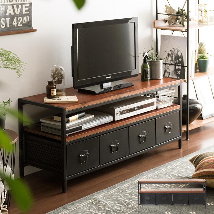 テレビ台 物品 テレビボード 限定タイムセール おしゃれ ローボード 120 収納付き TV台 テレビラック インダストリアル リビングボード TVボード