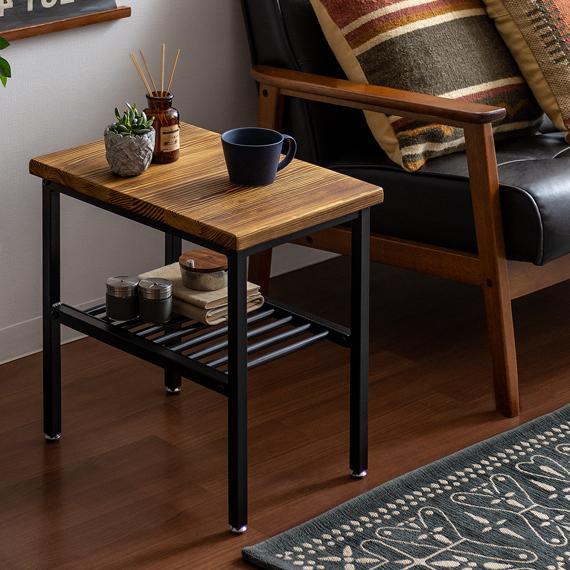 サイドテーブル おしゃれ 格安激安 スリム ベッドサイドテーブル ソファーサイドテーブル ミニテーブル スチール コーヒーテーブル ナイトテーブル 直営ストア 木製