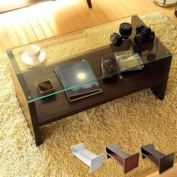 テーブル 新品未使用正規品 ローテーブル リビングテーブル おしゃれ 北欧 2020 ガラス 木製センターテーブル モダン 送料無料 長方形 ブラウン ホワイト 収納 ガラステーブル