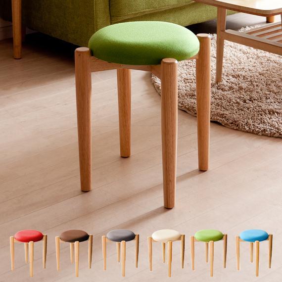 スツール 椅子 おしゃれ 北欧 イス 日本 チェア 木製 ファブリック スタッキング 玄関 丸型 リビング コンパクト シンプル かわいい 円形 丸椅子 ナチュラル 世界の人気ブランド