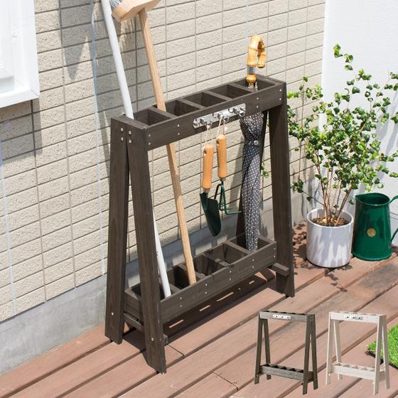 格安 価格でご提供いたします ツールスタンド 木製 天然木製ツールスタンド 日本未発売 玄関収納 傘立て おしゃれ スリム 収納 ブラウン 掃除用具 ガーデニング ホワイト ベランダ収納