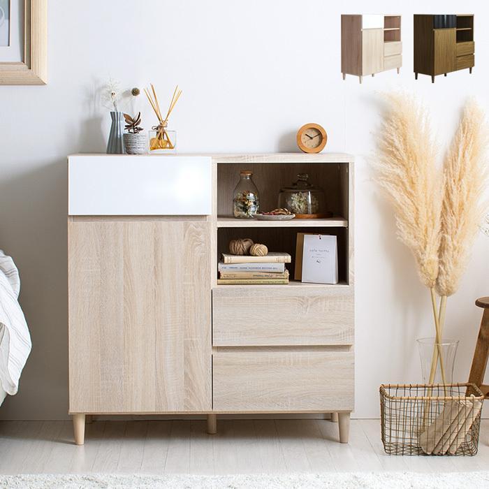 リビング 収納 収納棚 キャビネット サイドボードおしゃれ 10%OFF 木製 ラック 本棚 収納ラック ディスプレイラック 予約 ナチュラル 収納家具 モダン 北欧