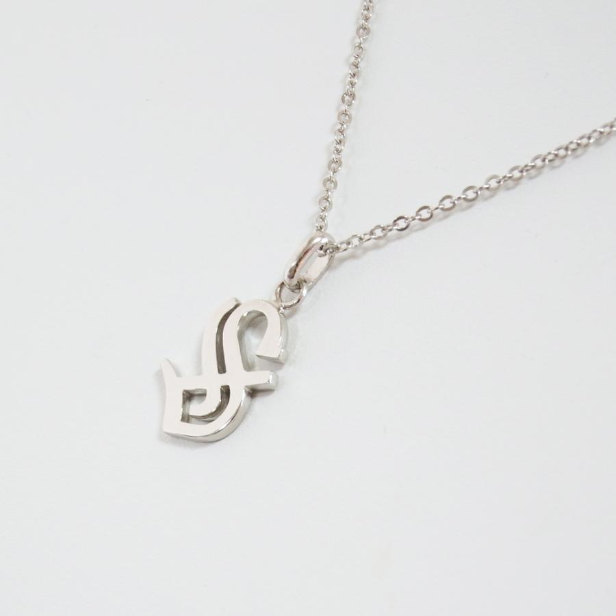 イニシャルペンダントトップ S プラチナコーティング ユニッセックス、メンズ、ペアジュエリー|airejewelry|03