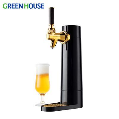 グリーンハウス スタンド型家庭用ビールサーバー ブラック GH-BEERO-BK 即納 瓶 2021年6月末発送予定 缶ビール対応 再再販 ギフト対応 氷点下保冷剤付