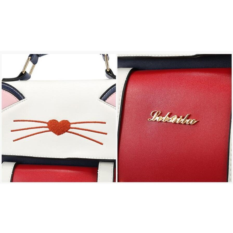 リュック 猫 リュックサック 可愛い ねこ耳 バッグ キャンバス 軽量 学生 通学 レディース キズ 大容量 バックパック アウトドア|airii-shop|07
