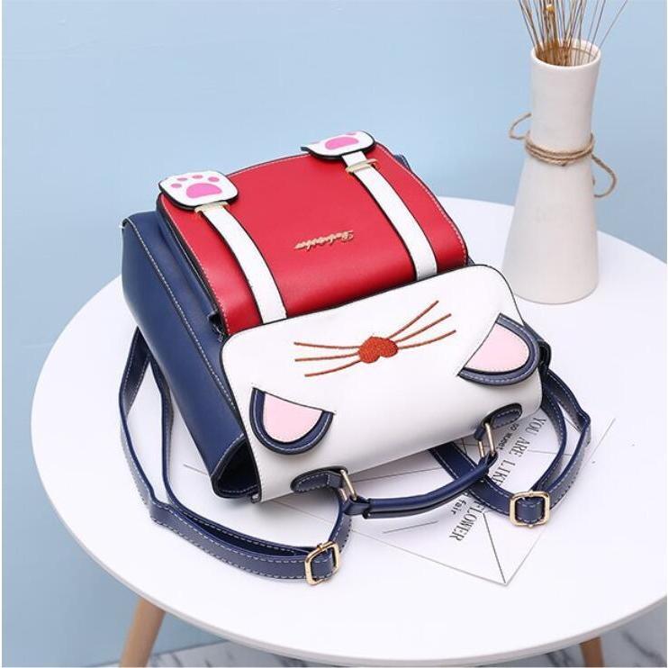 リュック 猫 リュックサック 可愛い ねこ耳 バッグ キャンバス 軽量 学生 通学 レディース キズ 大容量 バックパック アウトドア|airii-shop|08