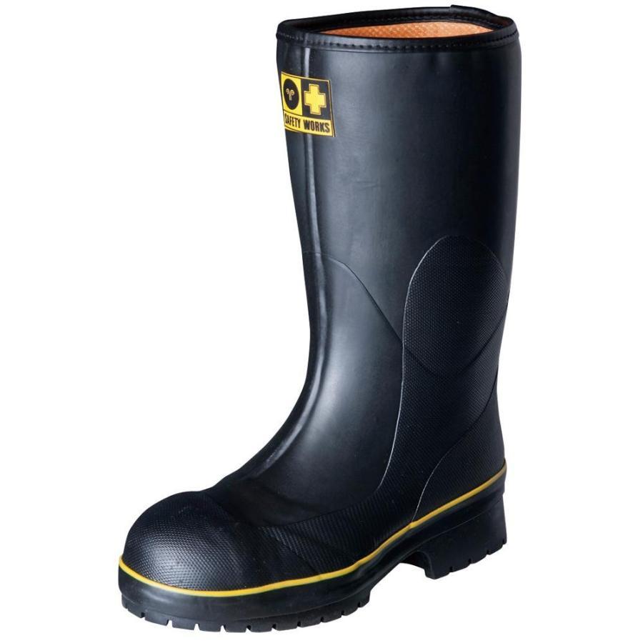 弘進ゴム 長靴(ゴム製) ライトセーフティーワークス LSW-01 黒 24.0cm A0020AB 同梱不可