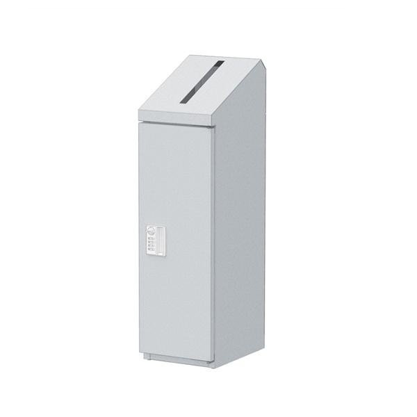 ぶんぶく 機密書類回収ボックス スリム スリム ダイヤル錠仕様 シルバーメタリック KIM-S-4D 同梱不可
