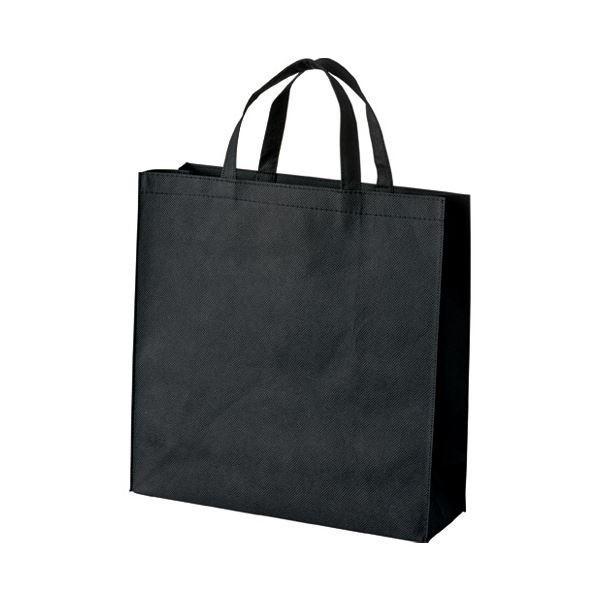 (まとめ) スマートバリュー 不織布手提げバッグ小10枚ブラックB450J-BK〔×10セット〕