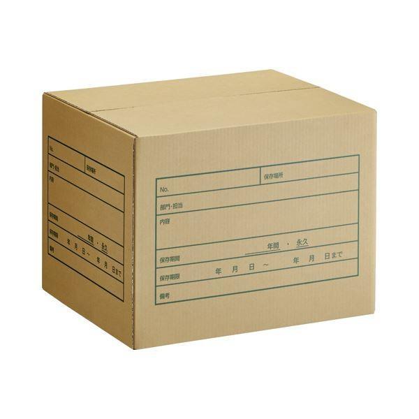 (まとめ) TANOSEE A式文書保存箱 A4・B4用 内寸:W400×D330×H300mm 1パック(10個) 〔×5セット〕