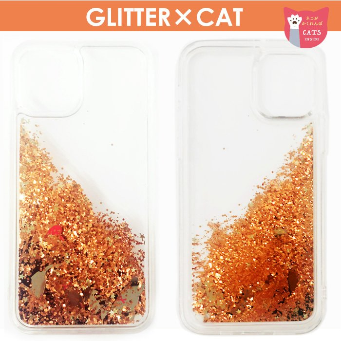 iPhone12mini iPhone12 iPhone12Pro バックカバー 背面カバー 銀イオンコート 抗菌加工ケース  ネコ グリッター 抗菌 キラキラ CAT キャット シルバー 猫|airs|03