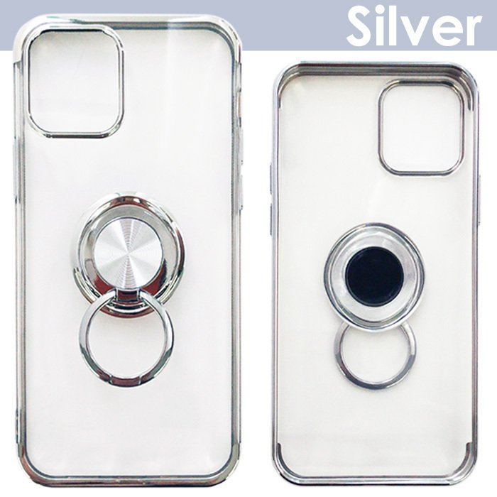 iPhone12mini iPhone12 iPhone12Pro 5.4 6.1 クリアカラーフレーム バックカバー 銀イオンコート 抗菌加工ケース 【メール便送料無料】|airs|02