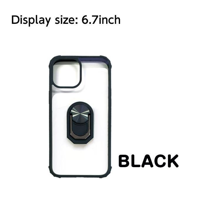 iPhone12mini iPhone12 iPhone12Pro iPhone12ProMax 5.4 6.1 6.7インチ 耐衝撃スリムバックカバーリング付き背面ケース【メール便送料無料】|airs|06