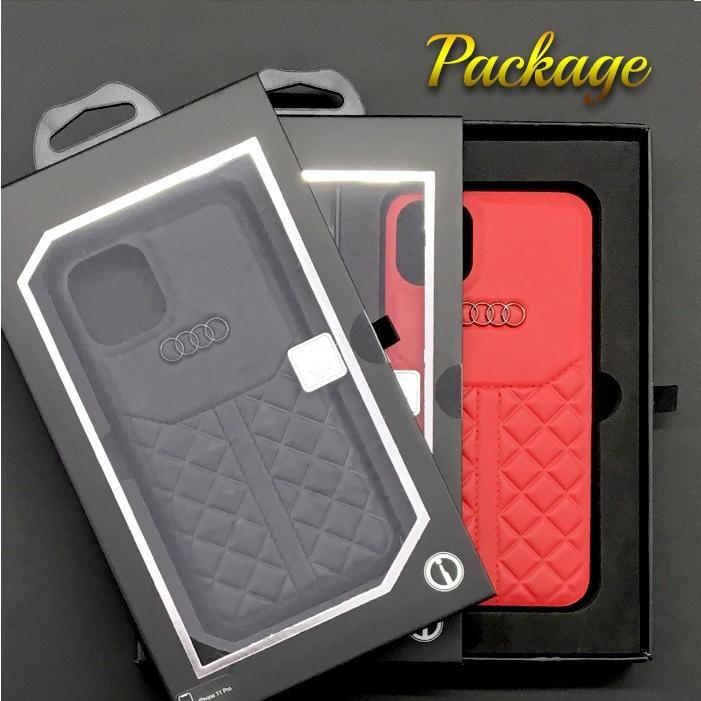 Audi・公式ライセンス品 iPhone11Pro iPhone11 iPhone11ProMax ケース 本革 レザー 背面ケース カーブランド|airs|07