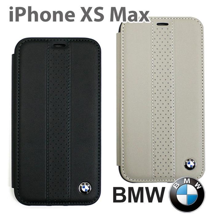 BMW iPhoneXS Max 手帳型ケース 公式ライセンス品 アイフォンケース 本革 ブランド メンズ シンプル ブラック ベージュ airs
