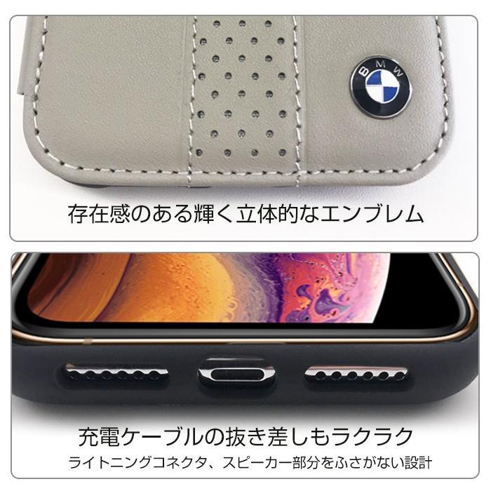 BMW iPhoneXS Max 手帳型ケース 公式ライセンス品 アイフォンケース 本革 ブランド メンズ シンプル ブラック ベージュ airs 05