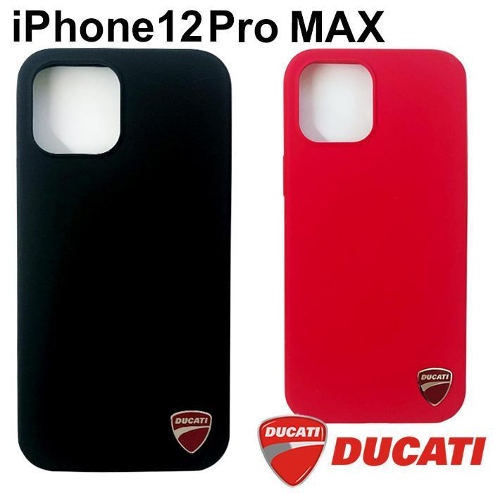 Ducati 公式ライセンス品 iPhone12ProMax シリコン ハードケース ブラック レッド ドゥカティ 背面ケース バックカバー【送料無料】|airs