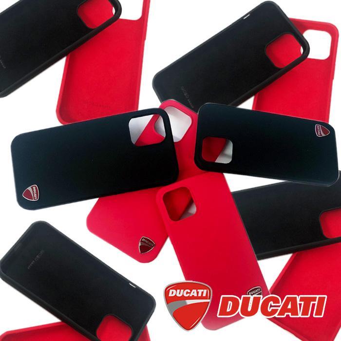 Ducati 公式ライセンス品 iPhone12ProMax シリコン ハードケース ブラック レッド ドゥカティ 背面ケース バックカバー【送料無料】|airs|08