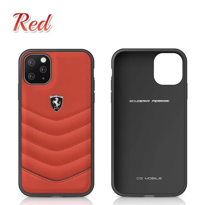 Ferrari フェラーリ 公式ライセンス品 iPhone11Pro iPhone11 本革 背面ケース バックカバー ハードケース  レザー ブランド|airs|03