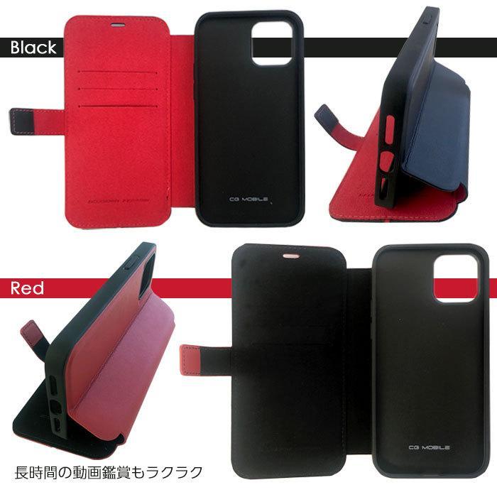 Ferrari フェラーリ 公式ライセンス品 iPhone12mini iPhone12 iPhone12Pro iPhone12ProMax 本革 手帳型ケース ブラック レッド|airs|05