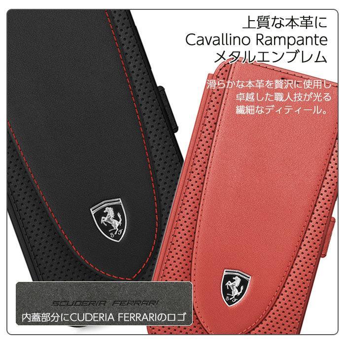 Ferrari フェラーリ 公式ライセンス品 iPhone12mini iPhone12 iPhone12Pro iPhone12ProMax 本革 手帳型ケース ブラック レッド|airs|07