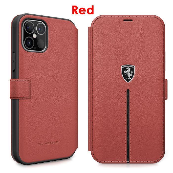 Ferrari フェラーリ 公式ライセンス品 iPhone12mini iPhone12 iPhone12Pro iPhone12ProMax 本革 手帳型ケース ブックタイプ リアルレザー iPhoneケース|airs|03