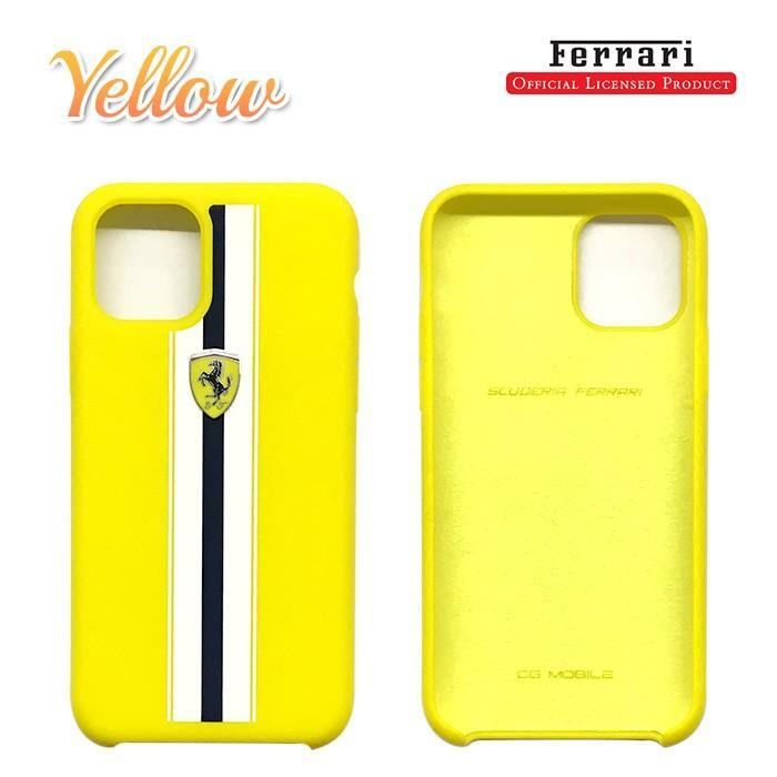 Ferrari フェラーリ 公式ライセンス品 iPhone11Pro iPhone11 iPhone11ProMax シリコン 背面ケース バックカバー ブランド|airs|04