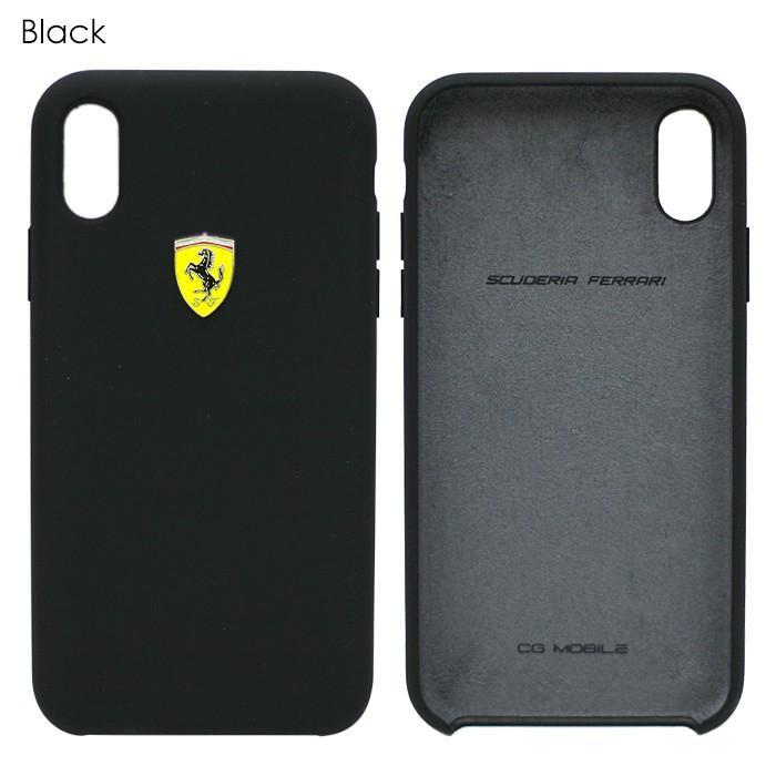 フェラーリ iPhone Xs Max ハードケース 公式ライセンス品 アイフォンケース ブランド メンズ カバー シリコン ブラック レッド airs 02
