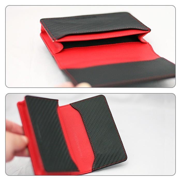 名刺入れ メンズ ビジネス 革 レッド ブラック 赤 黒 カーボン調 名刺 カードケース 大人 男性 GT-MOBILE|airs|03