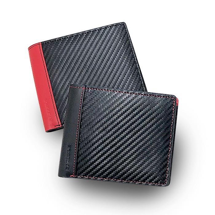 二つ折り札入れ メンズ ビジネス 財布 ウォレット カーボン調 レッド ブラック 赤 黒 大人 男性 カードケース GT-MOBILE airs