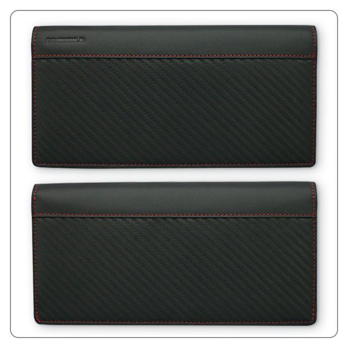 長財布 メンズ ビジネス レッド ブラック 赤 黒 カーボン調 ウォレット 二つ折り 男性 PUレザー GT-MOBILE|airs|02
