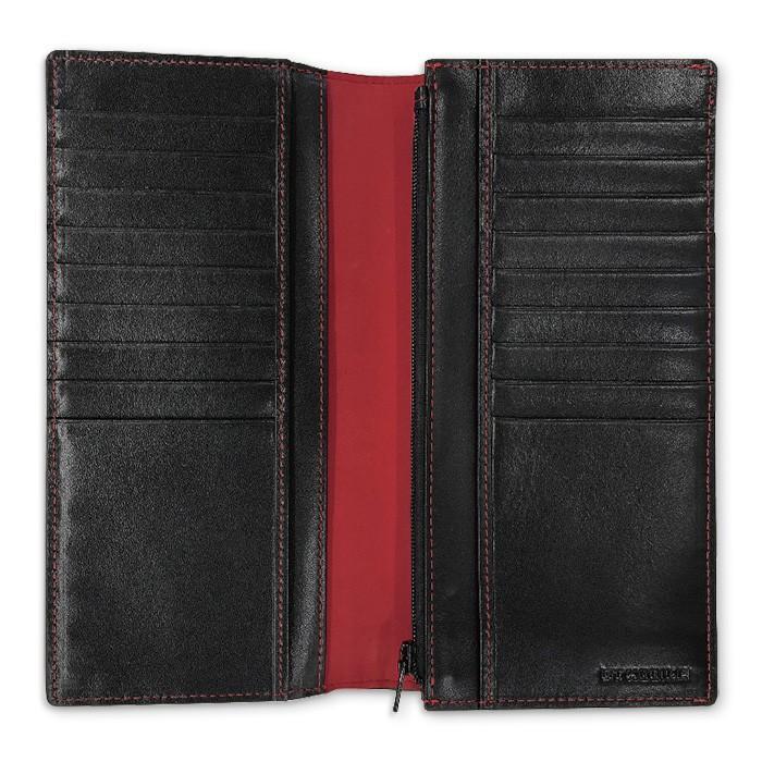 長財布 メンズ ビジネス レッド ブラック 赤 黒 カーボン調 ウォレット 二つ折り 男性 PUレザー GT-MOBILE|airs|03