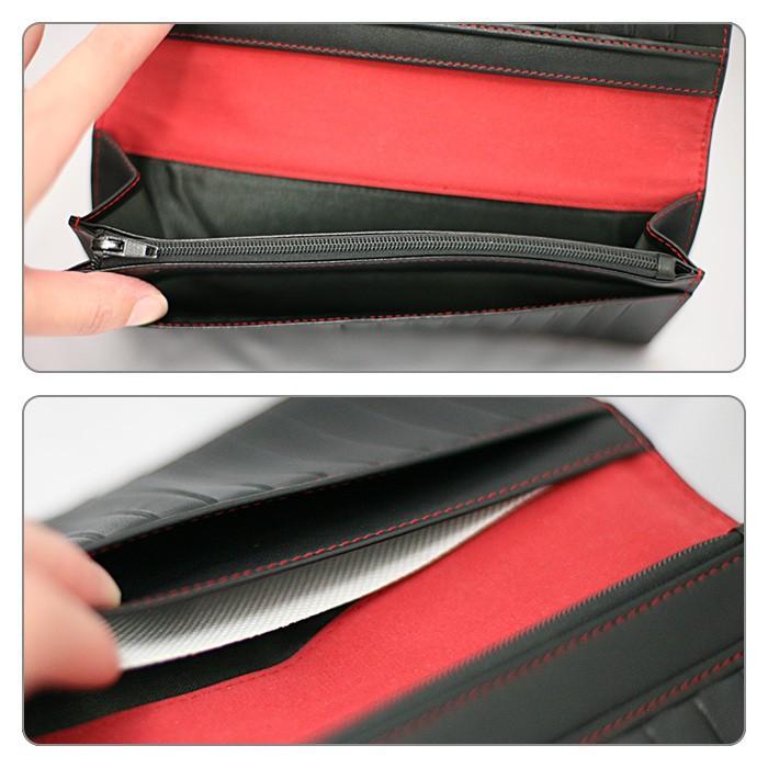 長財布 メンズ ビジネス レッド ブラック 赤 黒 カーボン調 ウォレット 二つ折り 男性 PUレザー GT-MOBILE|airs|04