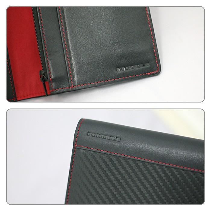 長財布 メンズ ビジネス レッド ブラック 赤 黒 カーボン調 ウォレット 二つ折り 男性 PUレザー GT-MOBILE|airs|05