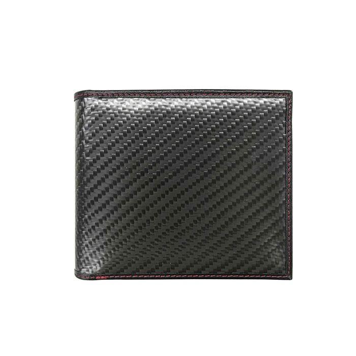 二つ折り財布 本革 メンズ ビジネス ブラック 黒 リアルカーボン 財布 小銭入れ 大人 男性 リアルレザー GT-MOBILE airs