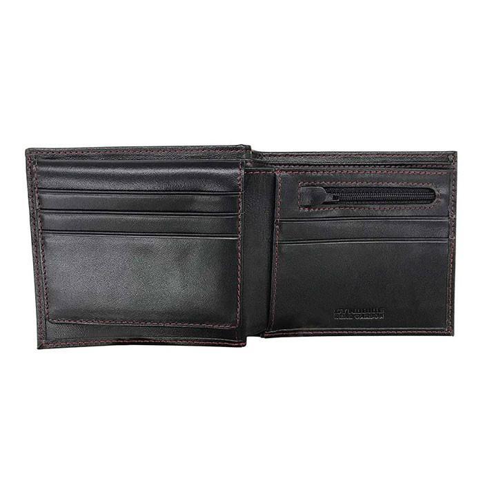 二つ折り財布 本革 メンズ ビジネス ブラック 黒 リアルカーボン 財布 小銭入れ 大人 男性 リアルレザー GT-MOBILE airs 02